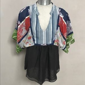 One September Patchwork Blouse by Anthropologie